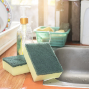 Two kitchen sponges